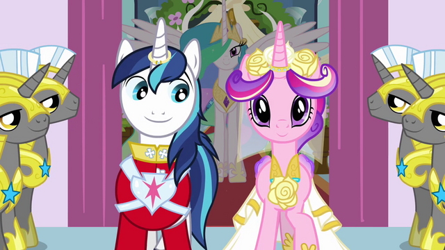 File:Shining Armor smiling at Cadance S2E26.png