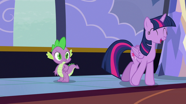 """File:Twilight Sparkle """"I usually get letters by dragon"""" S6E25.png"""