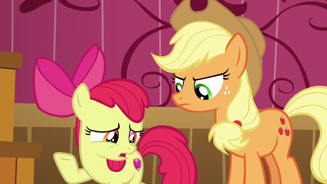 "File:Apple Bloom ""fix it before anypony found out"" S6E23.png"