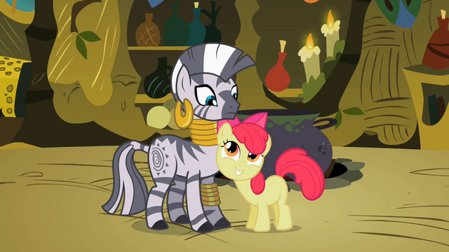 File:Apple Bloom flatters Zecora 2 S02E06.png