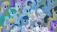 Breezies fluttering over Ponyville S4E16