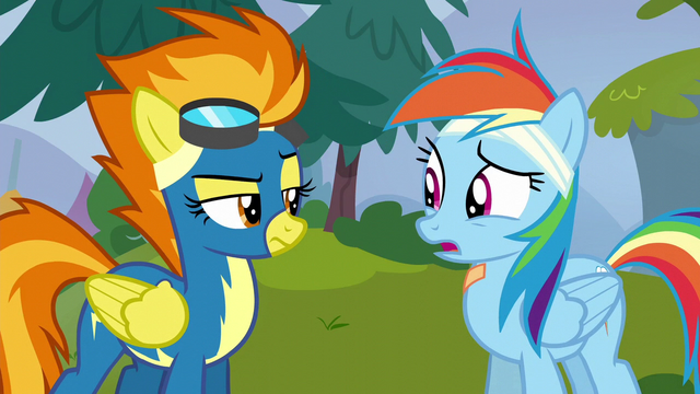 "File:Rainbow Dash ""still on the team"" S6E7.png"