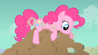 Pinkie Pie fails to enter the hole S1E19