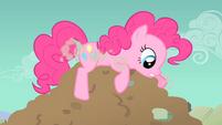 Pinkie Pie fails to enter the hole S1E19