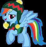 Rainbow Dash Hearth's Warming Eve Card Creator