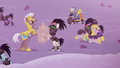Royal guards and Crystal Ponies fighting S5E25.png