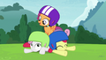 Cutie Mark Crusaders on the ground S7E6.png