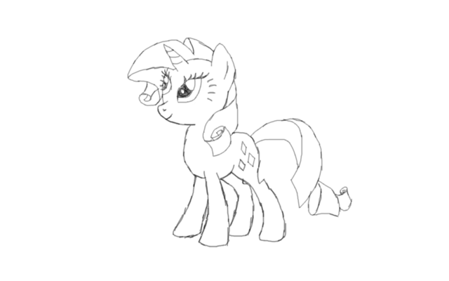 File:FANMADE Rarity Sketch.png