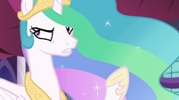 "Princess Celestia ""flowers in a wall sconce"" S7E10"