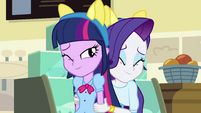 Rarity hugging Twilight EG