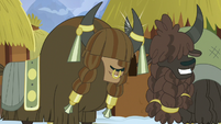 Unnamed yaks bumping their horns S7E11