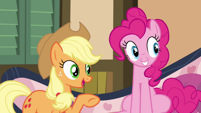 File:Applejack pointing to Granny Smith S4E09.png