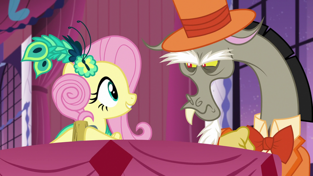File:Fluttershy surprised to see Discord at the Gala S5E7.png