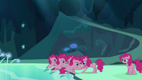 More Pinkie Pie clones coming out of the pond S3E03