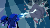 Princess Luna blasts the brick wall S5E13