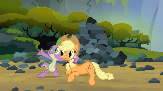 File:Spike and Applejack favorite song S03E09.png