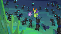 Starlight presents the new Thorax to the changelings S6E26