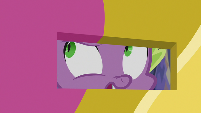 "File:Spike Changeling ""make an appointment!"" S6E25.png"