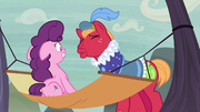 Sugar Belle creeped out by Big Mac's kiss attempt S7E8