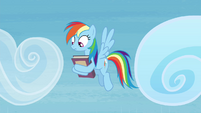 Rainbow Dash looking at the ground S4E22