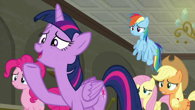 """File:Twilight Sparkle """"we're workin' on it!"""" S6E9.png"""