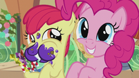 Apple Bloom and Pinkie Pie excited S5E20