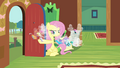 Breezies leaving the cottage S4E16.png