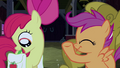 Apple Bloom taking out something inside the saddlebag S3E04.png