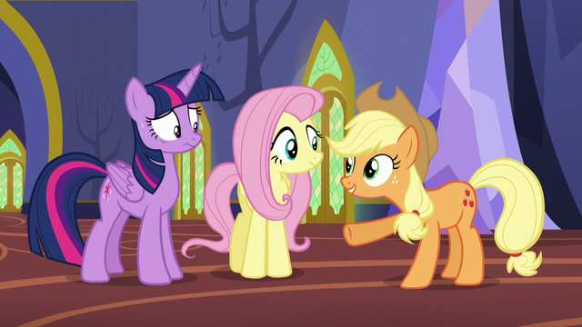 "File:Applejack ""You know everything about these fellers"" S5E11.png"