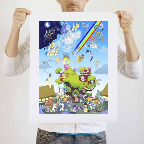 File:Everypony art print WeLoveFine.jpg