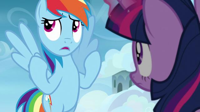 "File:Rainbow Dash ""I practically fell asleep"" S6E24.png"