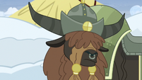 Rutherford's yak vassal shakes his head S7E11
