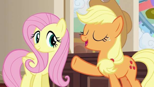 "File:Applejack ""Gladmane has left the buildin'!"" S6E20.png"