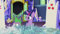 Crumpled scroll bounces past Twilight and Spike S5E25.png