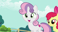 Sweetie Belle wants a balloon flamingo S5E19