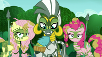 Zecora puts her hoof into the salve S5E26