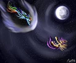 File:FANMADE Rainbow and Scootaloo under the moon.jpg