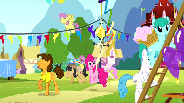 File:Pinkie Pie and Cheese at the party S4E12.png