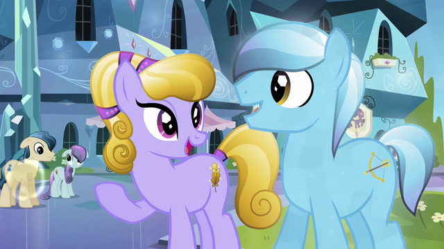 File:Crystal Ponies becoming cheerful again S3E01.png