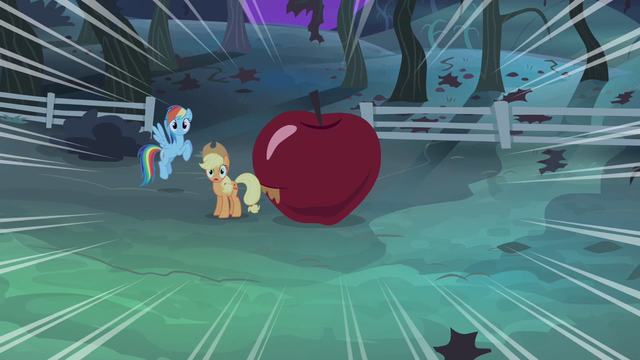File:Rainbow and Applejack dramatic zoom S4E07.png