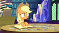 Applejack stares blankly at Starlight Glimmer S6E21.png