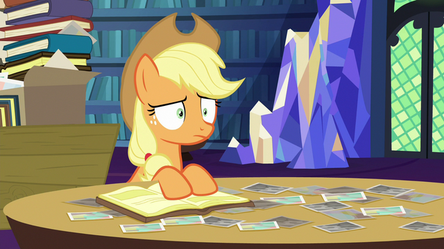 File:Applejack stares blankly at Starlight Glimmer S6E21.png