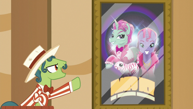 File:Barker pony promoting trained animal act S6E20.png
