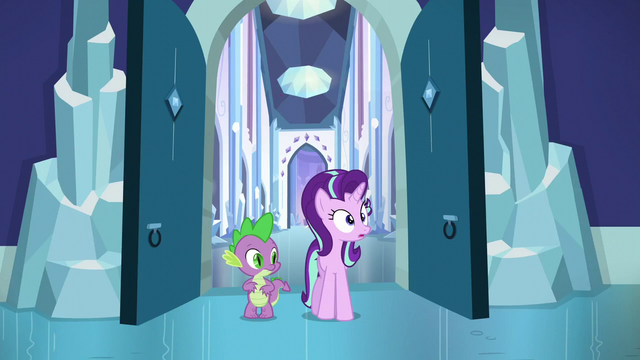 File:Starlight and Spike sees Pinkie chasing Flurry Heart S6E2.png