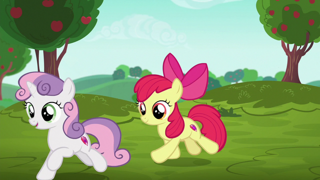 File:Sweetie Belle and Apple Bloom gallop to racing area S6E14.png