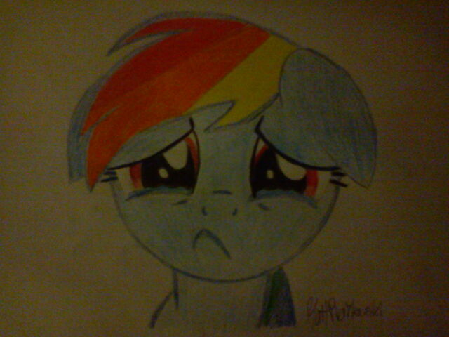 File:FANMADE SparTechV's Drawing of Rainbow Dash Crying.jpg