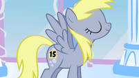 Derpy with number 15 sticker S1E16