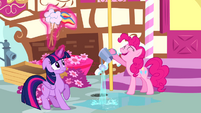 Pinkie watering the ground S4E12