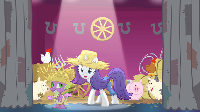 File:Rarity introduces new festival theme S4E13.png