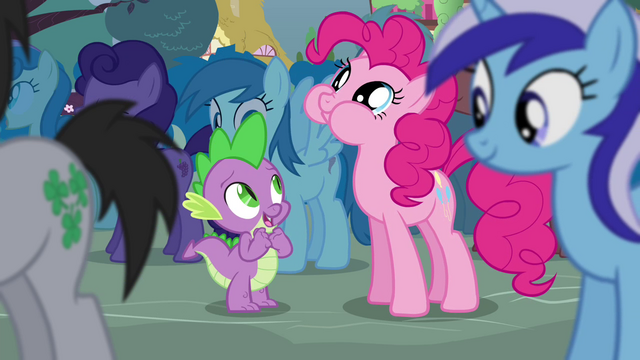 "File:Spike and Pinkie ""can I hop on you"" S4E16.png"